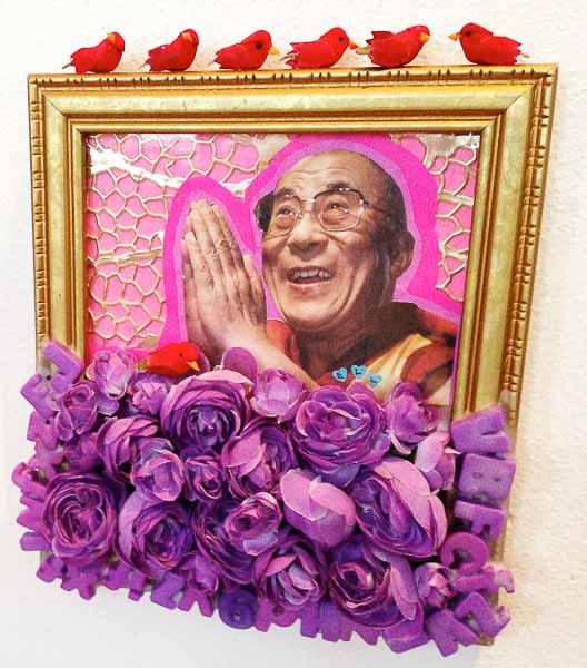 SOLD - Hello Dalai 7.5x9